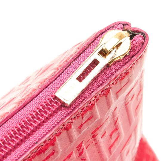 Fendi 9kfnpo001 Vintage Patent Leather Wristlet in Pink Image 7