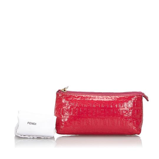 Fendi 9kfnpo001 Vintage Patent Leather Wristlet in Pink Image 8