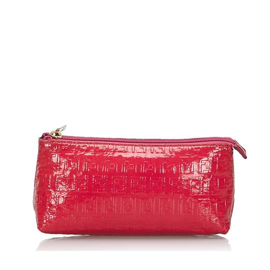 Fendi 9kfnpo001 Vintage Patent Leather Wristlet in Pink Image 9