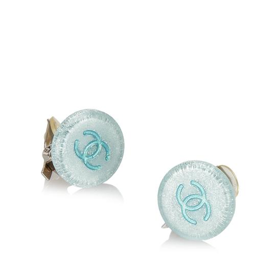 Chanel Chanel Plastic CC Earrings Image 1