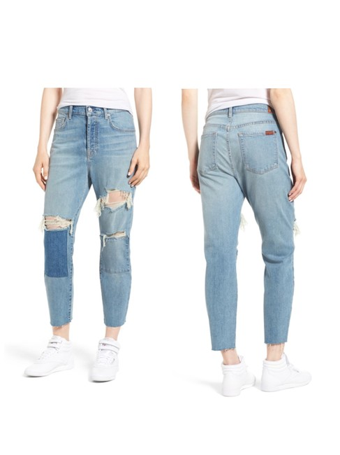 7 For All Mankind Boyfriend Cut Jeans-Distressed Image 1