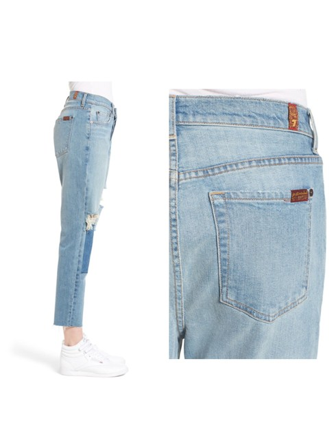7 For All Mankind Boyfriend Cut Jeans-Distressed Image 2