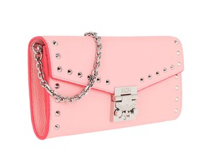 MCM Woc Woc Studded Large Wallet Leather Cross Body Bag