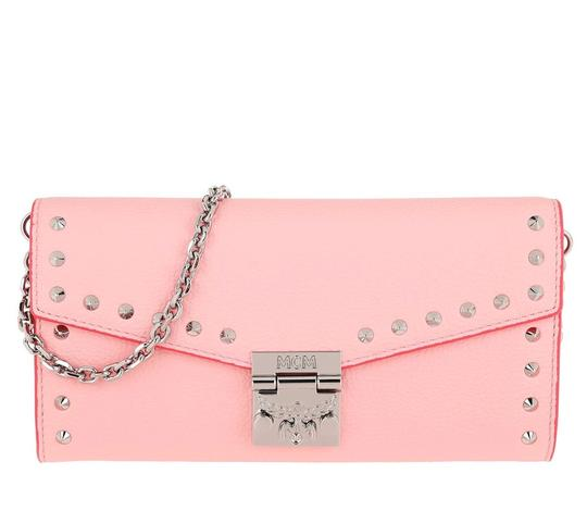 MCM Woc Woc Studded Large Wallet Leather Cross Body Bag Image 2