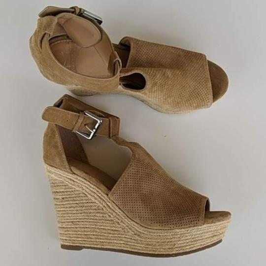 Marc Fisher Tan Brown Wedges Image 1