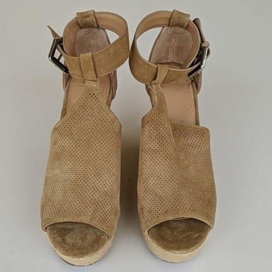 Marc Fisher Tan Brown Wedges Image 3