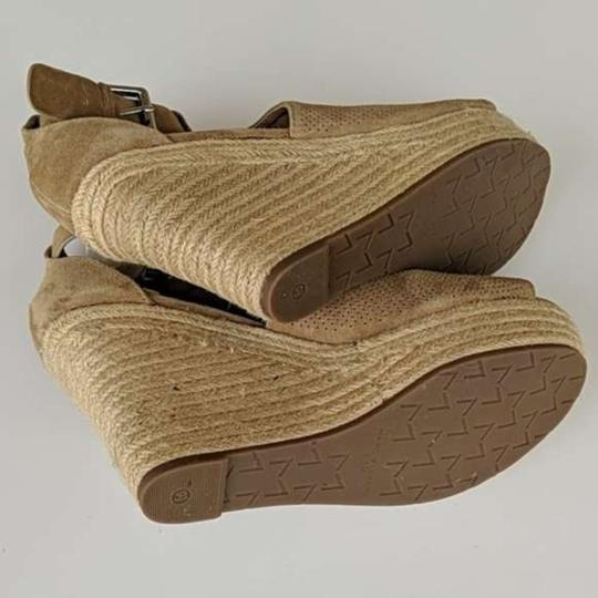 Marc Fisher Tan Brown Wedges Image 5