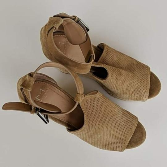 Marc Fisher Tan Brown Wedges Image 7