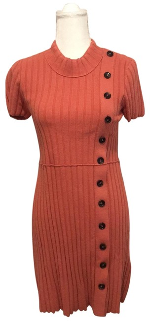 Item - Coral/Pink Button Short Casual Dress Size 8 (M)