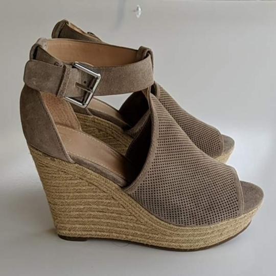 Marc Fisher Tan Wedges Image 4