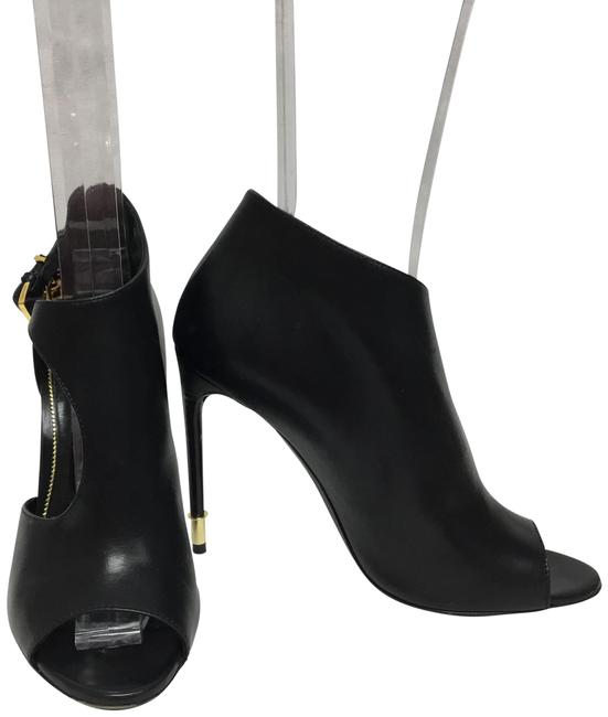 Item - Black Cut Out Peep with Gold Padlock Boots/Booties Size EU 38.5 (Approx. US 8.5) Regular (M, B)