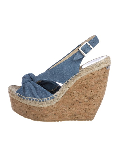 Item - Blue Box Parisa Denim Knot Cork Platform Sandals In Wedges Size EU 39.5 (Approx. US 9.5) Regular (M, B)
