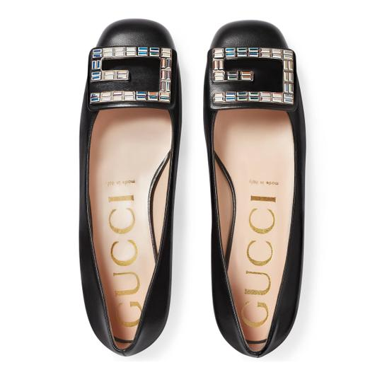 Preload https://img-static.tradesy.com/item/26444729/gucci-black-leather-ballet-with-crystal-g-flats-size-us-7-regular-m-b-0-0-540-540.jpg