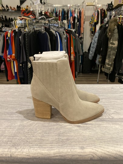 Marc Fisher Light Natural Suede Boots Image 6