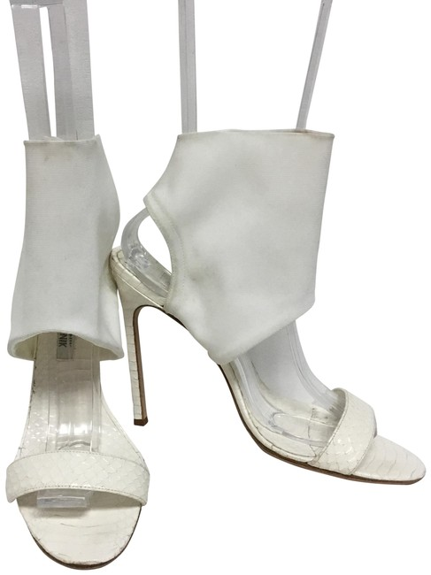 Item - White Python with Ankle Cuff Sandals Size EU 38 (Approx. US 8) Regular (M, B)