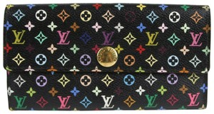 Louis Vuitton Louis Vuitton Multi-color LV Monogram Coated Canvas Flap Wallet