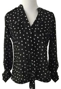 Candie's Black & White Polka Dot Top