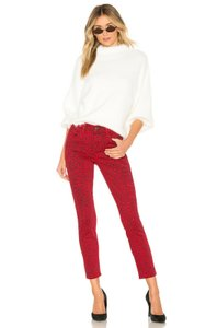 Current/Elliott Animal Pint Cheetah Skinny Jeans-Medium Wash