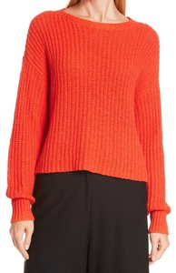 Eileen Fisher Organic Cotton Crew Neck Long Sleeve Pullover Hot Pullover Soft Cotton Pullover Top Red
