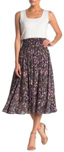 Susina Floral Stretchy Rayon Skirt Multicolor