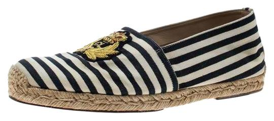 Preload https://img-static.tradesy.com/item/26445884/christian-louboutin-white-blackwhite-striped-canvas-gala-embroidered-crest-espadrille-flats-size-eu-0-2-540-540.jpg