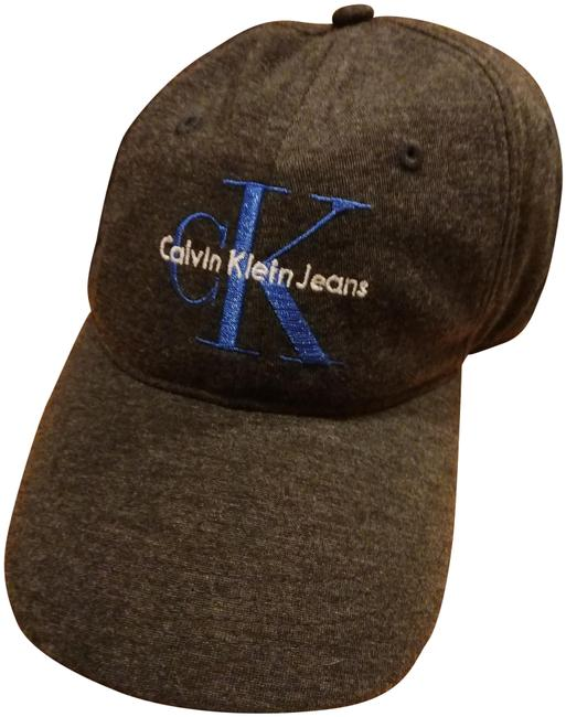 Item - Charcoal White Blue Jeans Logo Embroidered Baseball Cap Hat