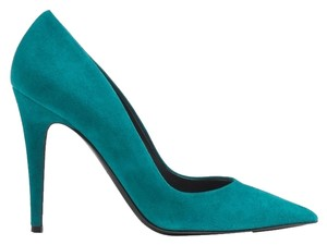 Tamara Mellon Stiletto Suede Teal Pumps