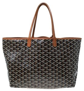 Goyard Coated Canvas Canvas Tote in Brown