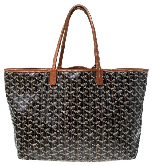 Preload https://img-static.tradesy.com/item/26447070/goyard-goyardine-st-louis-pm-brown-coated-canvas-tote-0-2-540-540.jpg