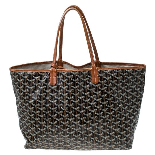 Goyard Coated Canvas Canvas Tote in Brown Image 1