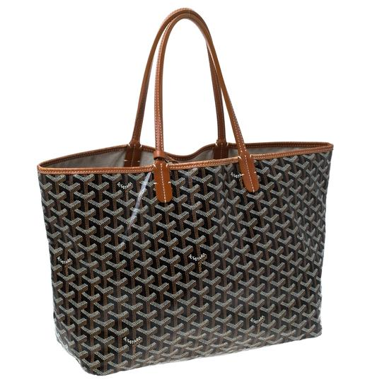 Goyard Coated Canvas Canvas Tote in Brown Image 3