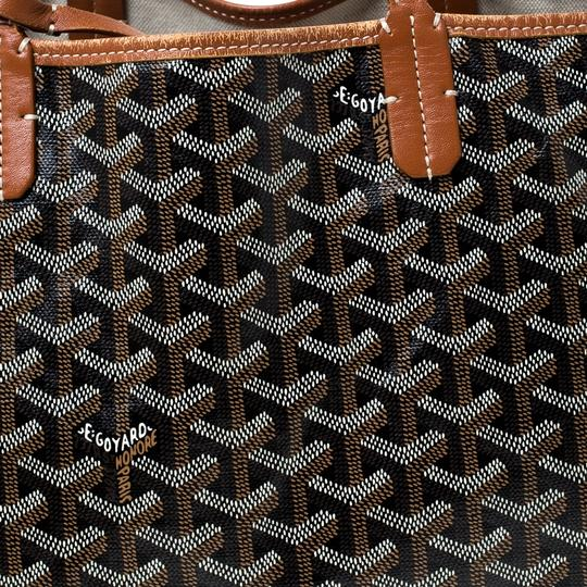 Goyard Coated Canvas Canvas Tote in Brown Image 8