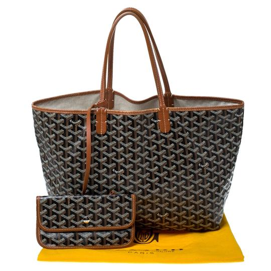 Goyard Coated Canvas Canvas Tote in Brown Image 9