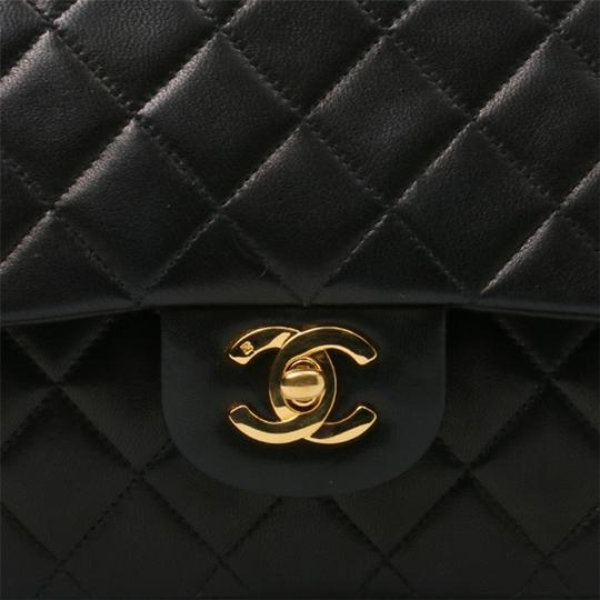 Chanel Vintage Lambskin Classic Flap Shoulder Bag Image 4
