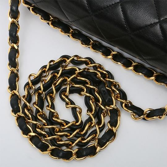 Chanel Vintage Lambskin Classic Flap Shoulder Bag Image 5