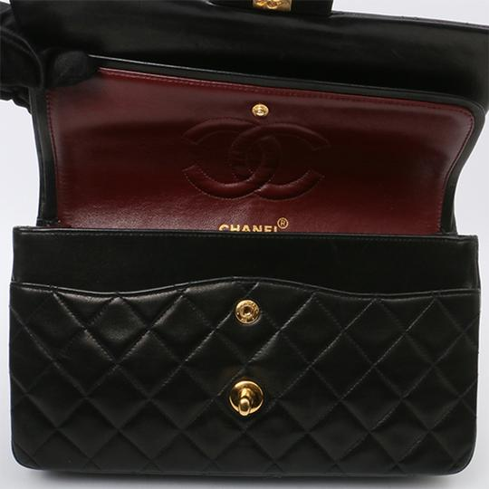Chanel Vintage Lambskin Classic Flap Shoulder Bag Image 6