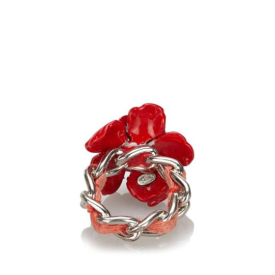 Chanel Chanel Metal Camellia Ring Image 8