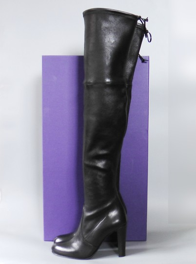 Stuart Weitzman Hollywood Party Date Night Night Out Holiday Black Boots Image 1