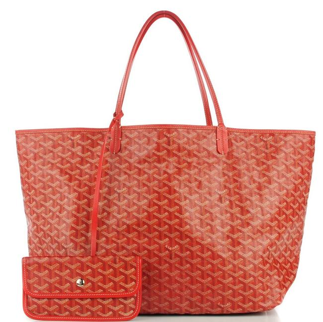 Item - Saint Louis (St. Louis) Gm Red Coated Canvas Tote