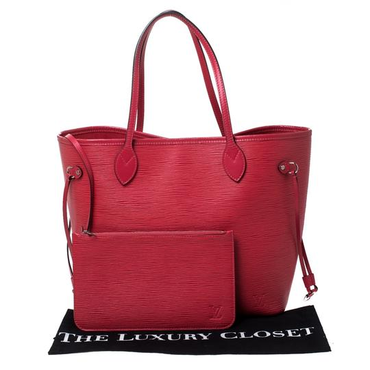 Louis Vuitton Leather Tote in Red Image 11