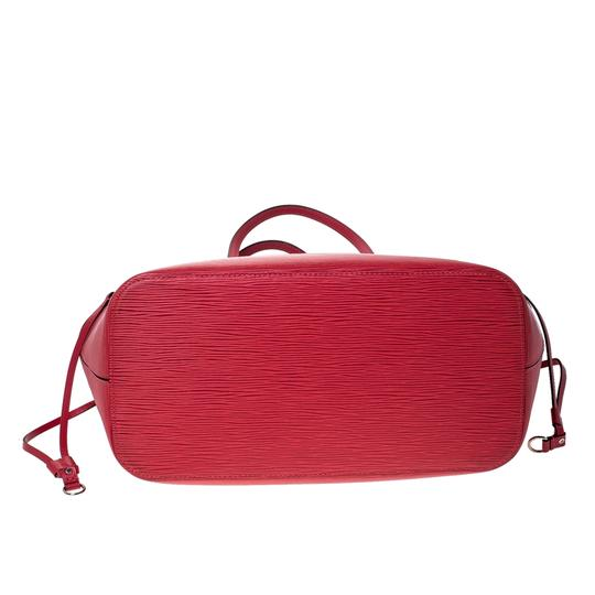 Louis Vuitton Leather Tote in Red Image 4