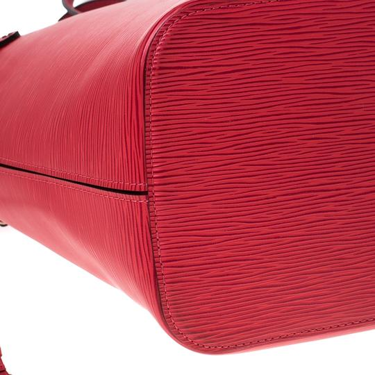 Louis Vuitton Leather Tote in Red Image 5