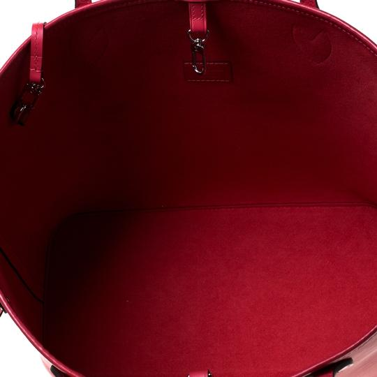Louis Vuitton Leather Tote in Red Image 6