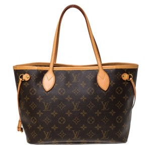 Louis Vuitton Monogram Canvas Coated Canvas Tote in Brown