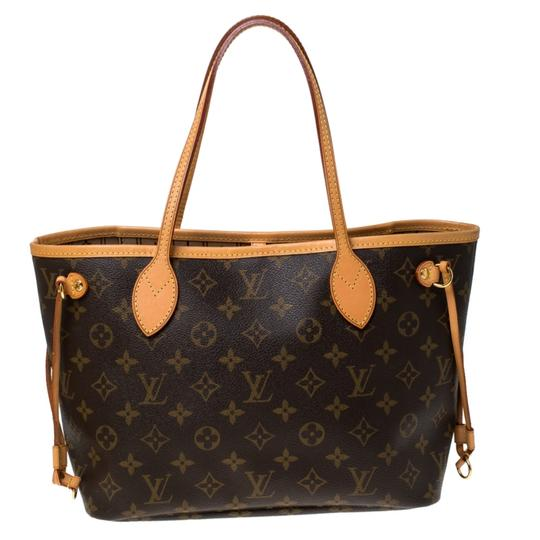 Louis Vuitton Monogram Canvas Coated Canvas Tote in Brown Image 1