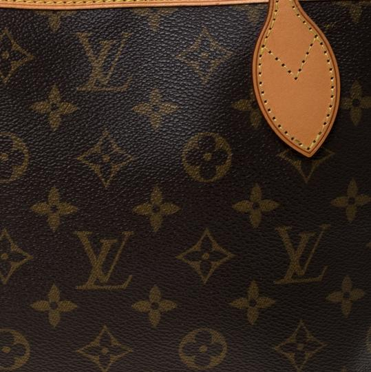 Louis Vuitton Monogram Canvas Coated Canvas Tote in Brown Image 10
