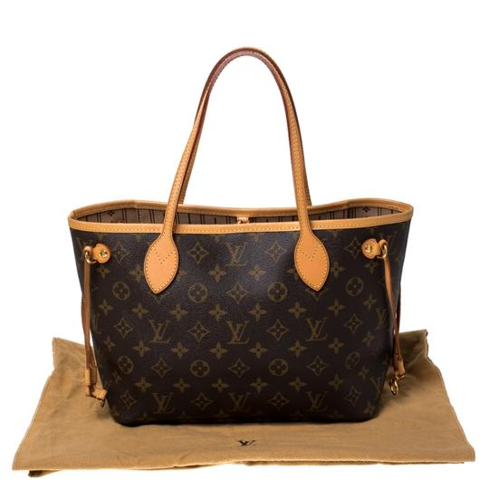 Louis Vuitton Monogram Canvas Coated Canvas Tote in Brown Image 11