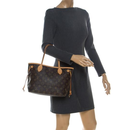 Louis Vuitton Monogram Canvas Coated Canvas Tote in Brown Image 2