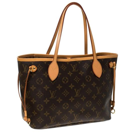 Louis Vuitton Monogram Canvas Coated Canvas Tote in Brown Image 3