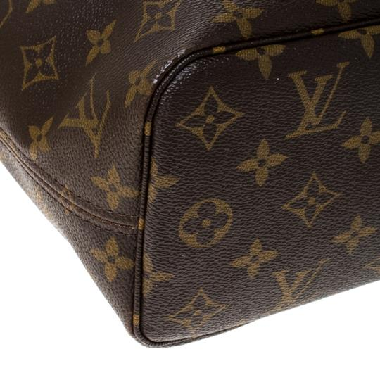 Louis Vuitton Monogram Canvas Coated Canvas Tote in Brown Image 7